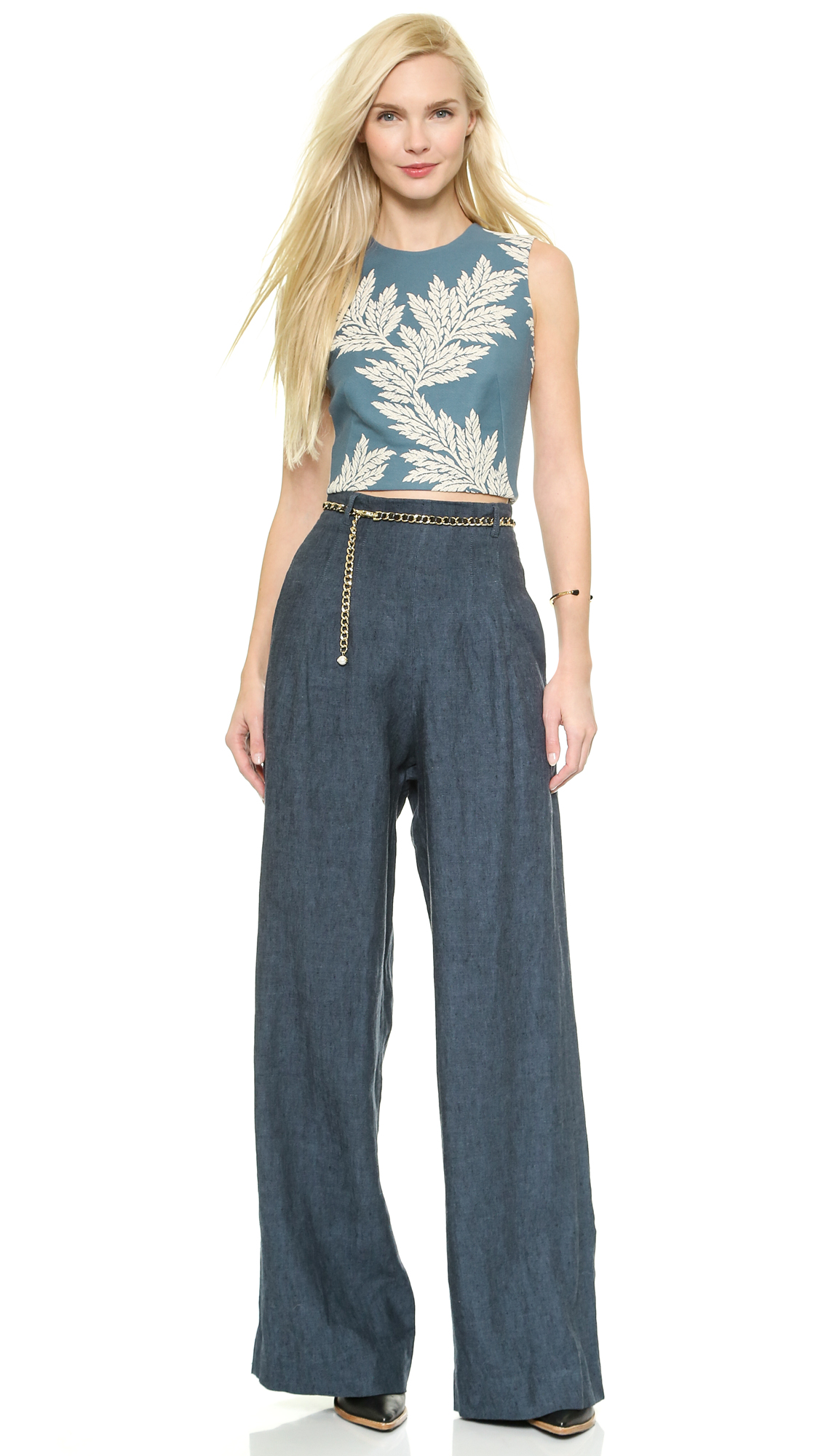 Sass & bide the force wideleg trousers