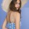 Selena gomezblue floral dress at coachella