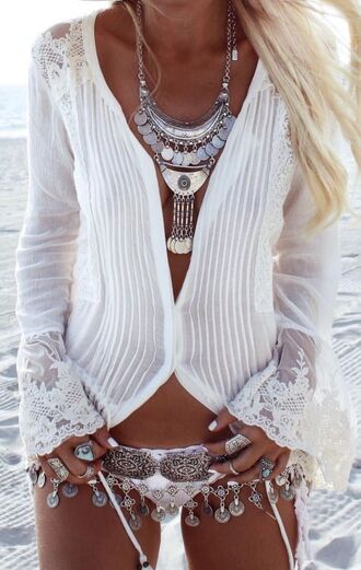 blouse white white lace white button up button up top boho boho blouse shirt top white shirt lace top lace blouse summer summer top beach beach top beach blouse button up blouse white peasant peasant top boho chic boho shirt hippie hippie chic white blouse