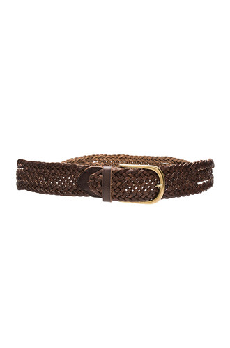 braid belt brown