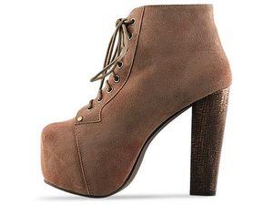 jeffrey campbell lita taupe suede lace up platform boots size 9 ebay. Black Bedroom Furniture Sets. Home Design Ideas