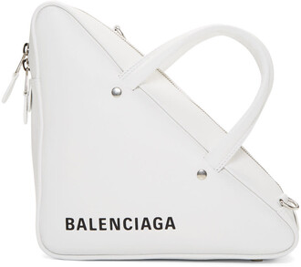duffle bag triangle bag white