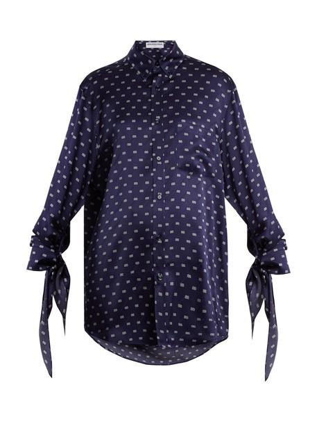 Balenciaga shirt navy top