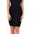 Glamorous Black Square Front Jersey Midi Dress | Emprada