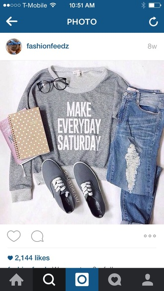 sweater cute gray long sleeves crop tops
