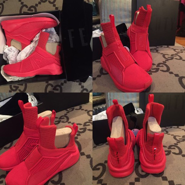 kylie jenner puma red shoes