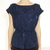 Marc by Marc Jacobs Ink Blue Big Hearted Silk Peplum Top / TheFashionMRKT