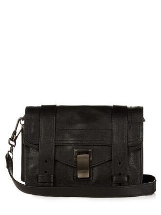 cross mini bag leather black