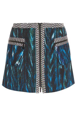 skirt short skirt short blue