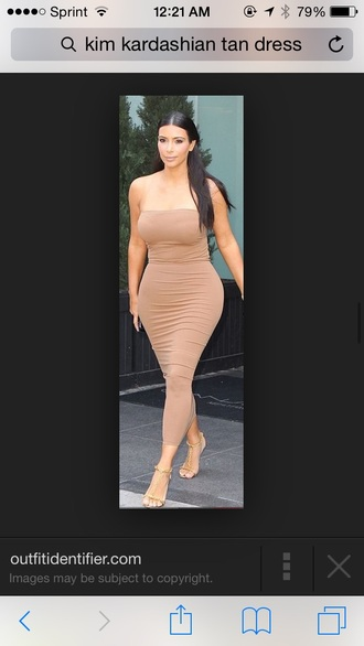 dress nude dress kim kardashian dress strapless dresses