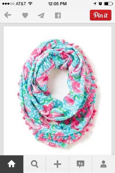 pink flowers scarf florel light blue