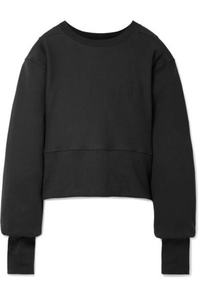 Tre sweatshirt oversized cotton black sweater