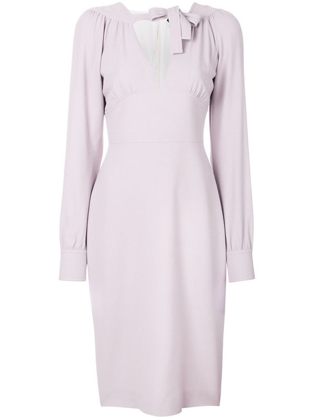 dress midi dress cut-out women midi spandex silk purple pink