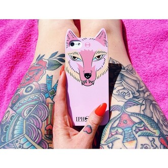 phone cover iphone case iphone 5 case fox wolf