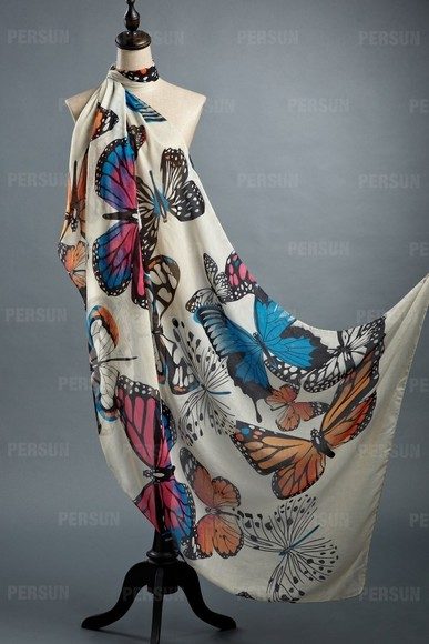 butterfly dress jewelry accessories scarf clothes fashion top