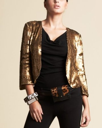 Bebe stacked sequins jacket