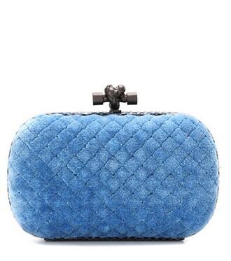 clutch cotton blue bag
