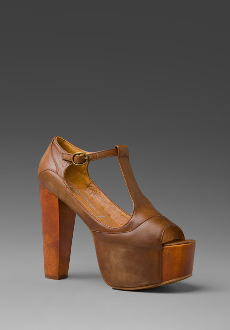 JEFFREY CAMPBELL Foxy Platform in Brown/Wood at Revolve Clothing - Free Shipping!