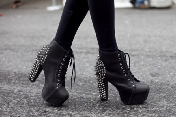 shoes belt black heels black spikes spiked heels shoes with studs studded shoes studs lace up heels jeffrey campbell jeffrey campbell lita high heels spikes and studs edgy punk grunge platform lace up boots