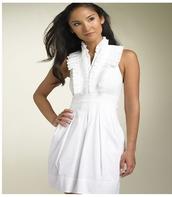 white dress,ruffle halter dress,dress
