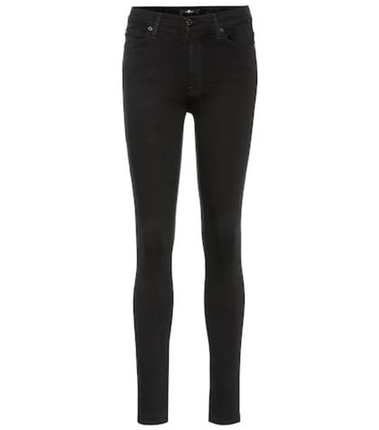 7 For All Mankind The Skinny high-rise jeans in black