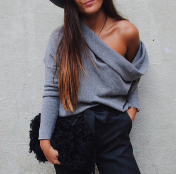 sweater cardigan charcoal