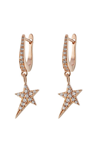 rose gold rose diamonds earrings gold earrings gold white jewels