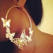 jewels,butterfly earrings,earrings,butterfly,beautiful