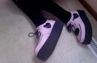 shoes purple creepers grunge pale