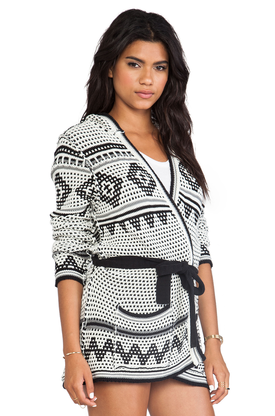 Chaser hooded cardigan in navajo blanket from revolveclothing.com