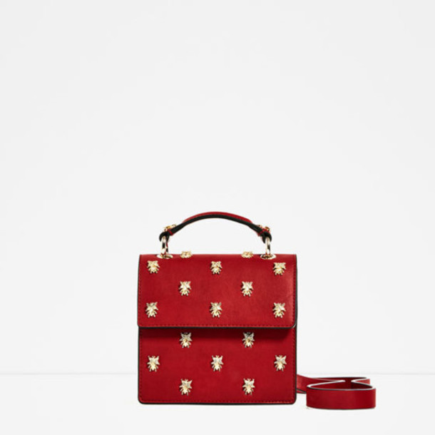 bag zara purse accessories fall outfits red bag