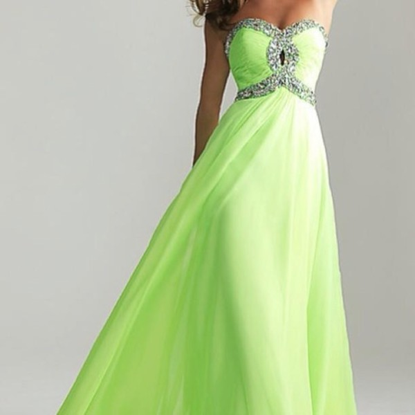 dress lime strapless dress glitzdress long dress