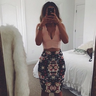 tank top pink top pink dress summer top summer dress style fashion flowers floral dress flowy dress flowered shorts skirt