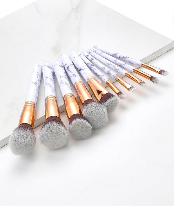 make-up girly makeup brushes marble