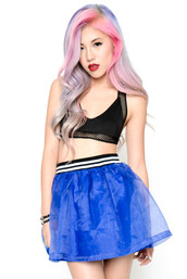 skirt,minty jungle,bubble,blue,organza
