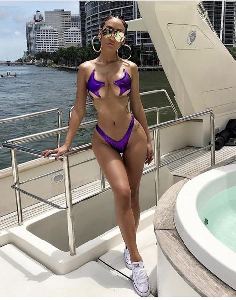 swimwear graciii3 purple stars star bikini