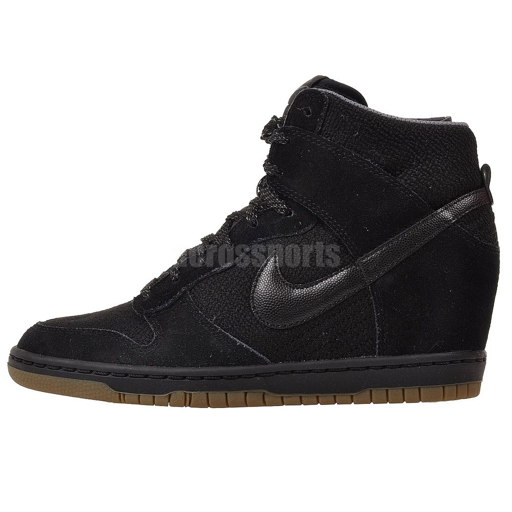 ed82ba19b3 Nike Wmns Dunk Sky Hi Essential Black Womens Fashion Wedge Sneakers Casual  Shoes