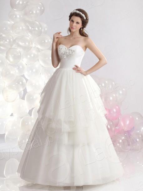 dress ウェディングドレス aライン ハートネック