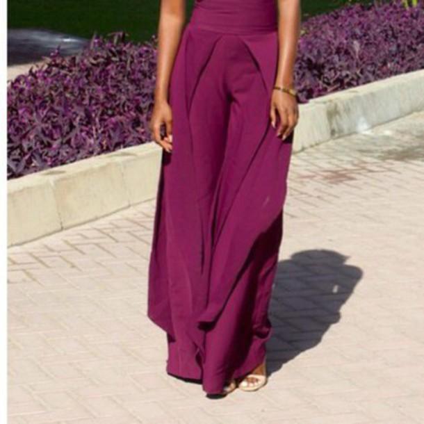 pants burgundy pants