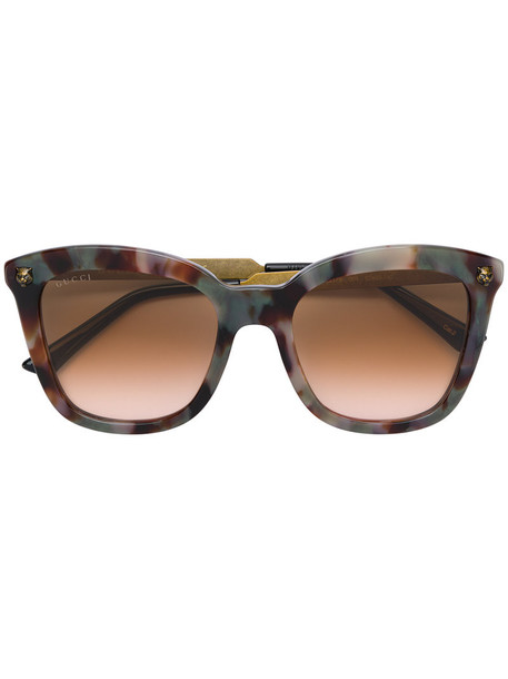 Gucci Eyewear metal women sunglasses brown