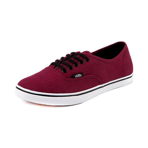 Vans Authentic Lo Pro Skate Shoe, Maroon | Journeys Shoes