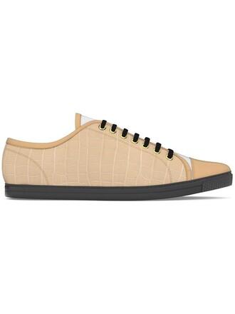 women sneakers leather nude crocodile shoes