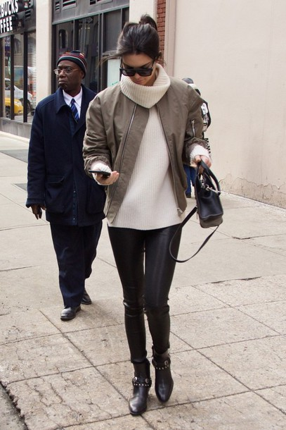 leggings kendall jenner jacket bomber jacket sweater shoes