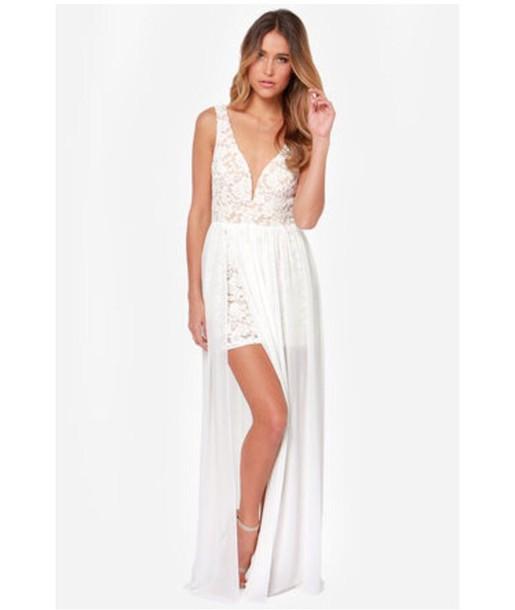 dress maxi dress backless dress prom dress white dress lace dress wedding dress sexy dress