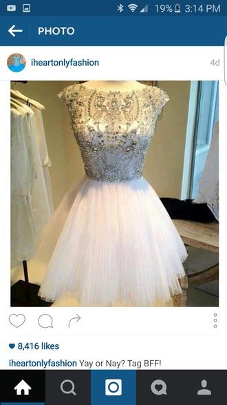 dress grey sparkly dress sparkle rhinestones dress rhinestones short short dress white dress white sleeveless dress ruffle