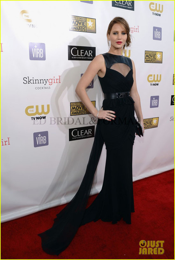 dress jennifer lawrence long dress choice awards red carpet black maxi dress celebrity style
