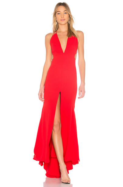 Fame and Partners dress red