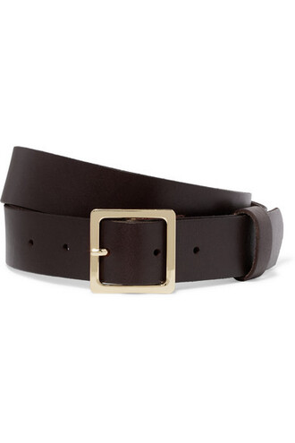 dark classic belt waist belt leather brown