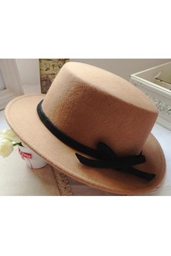 Bowknot Band Wool-blend Hat - OASAP.com