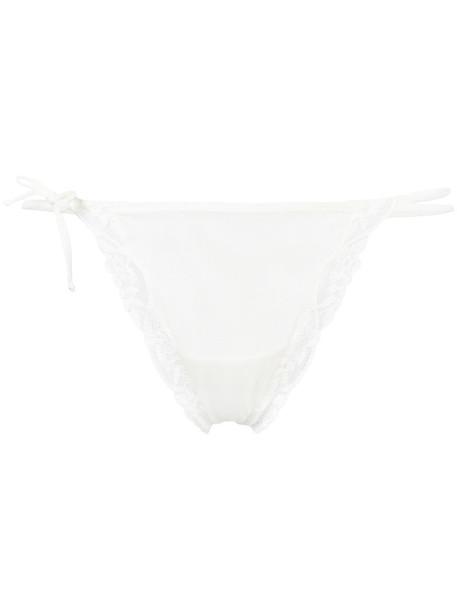 Emporio Armani thong women spandex lace white underwear